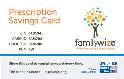 waytowellville prescription discount card