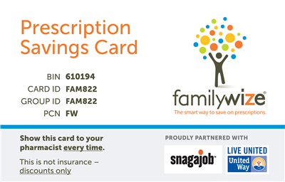 snagajob prescription discount card