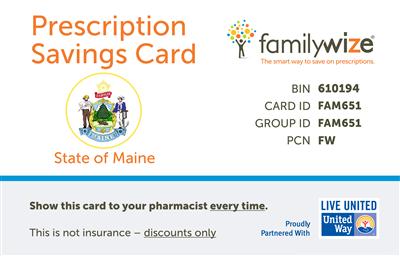 maine prescription discount card