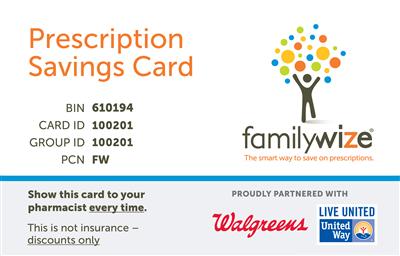 walgreens prescription discount card